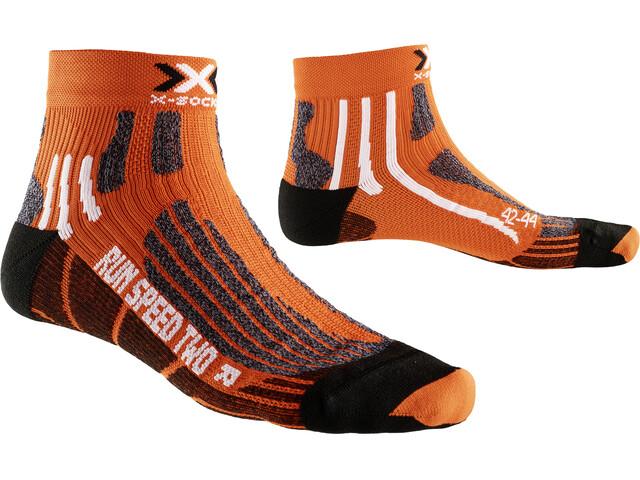 X-Socks Run Speed Two Short Socks Orange/Black
